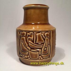 www.happythings.dk_370_M&Z_Michael Andersen_Bronholm_vase_brun_gul_keramik_02