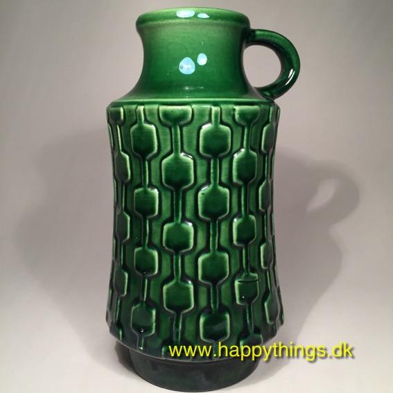 keramik vase w germany W Germany vase – keramik – grøn, SOLGT keramik vase w germany