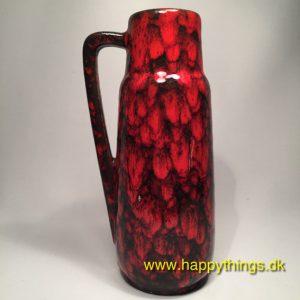 www.happythings.dk_633_W. Germany_kande_flaske_vase_rød_keramik_02